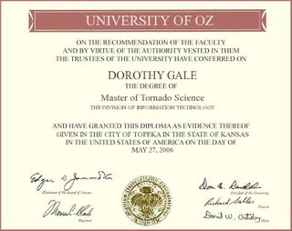 Wizard of Oz Diploma