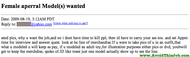 Creepy Craigslist Post