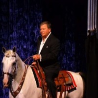 William Shatner on a Horse